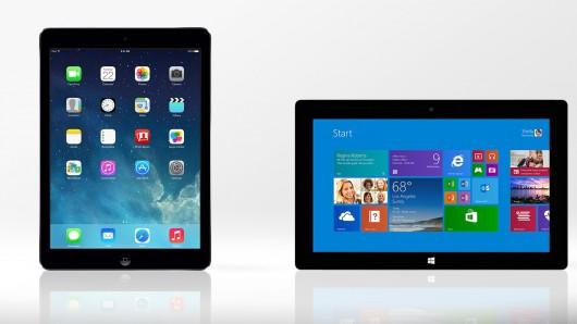 Que choisir entre la Surface 2 et le nouvel iPad Air