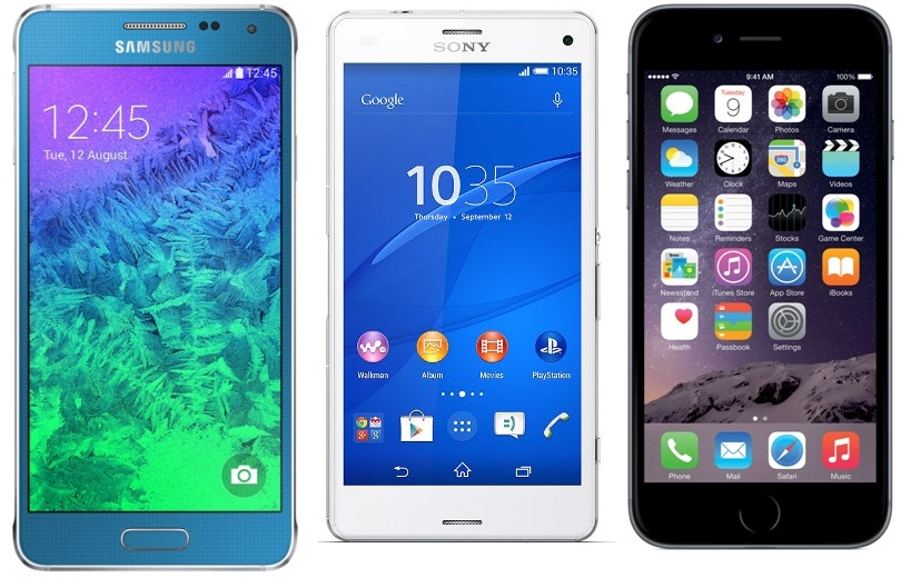 Galaxy Alpha, iPhone 6 ou Xperia Z3 Compact : choix difficile